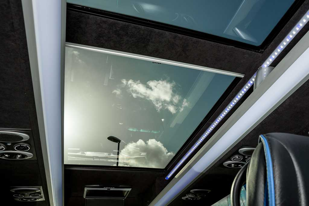 Glass Roof With Sun Blind