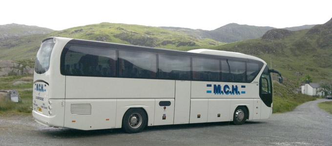 49 seat coach in Snowdonia